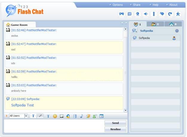 اسکریپت چت روم حرفه ای ۱۲۳Flash chat نسخه ۵٫۱