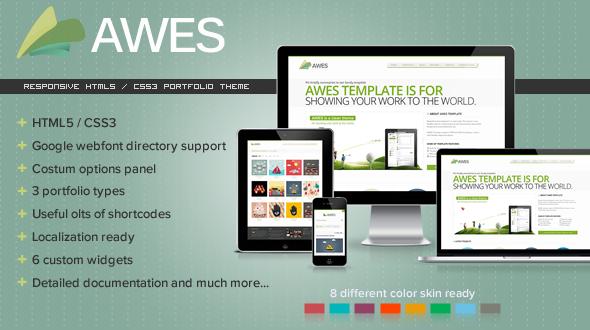 AWES-Responsive-Portfolio-Template