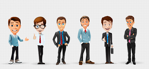 Businessman_Vector_Character_Set_1
