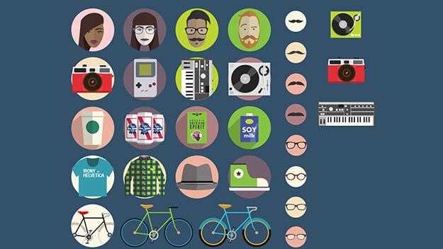 hipster-icon-set