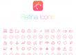آیکون های لایه باز متنوع وب - PSD Web Icons RetinaIcon 300 Icons