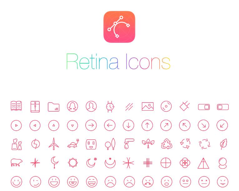 آیکون های لایه باز متنوع وب – PSD Web Icons RetinaIcon 300 Icons
