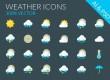 مجموعه آیکون های زیبای فلت Weather Icons