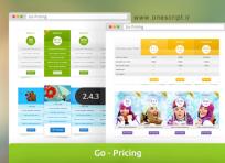 افزونه وردپرس Go Pricing v2.4.3 برای ساخت جدول های حرفه ای