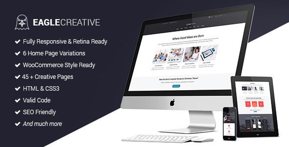 قالب HTML تجاری و خلاق Eagle