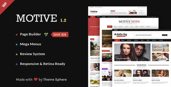 قالب وردپرس مجله ای ، خبری Motive ورژن 1.2.3