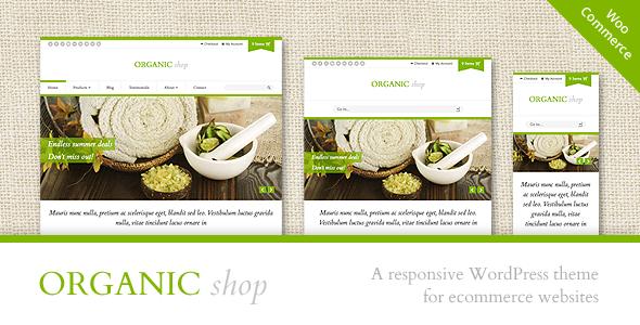 قالب وردپرس ووکامرس ریسپانسیو Organic Shop