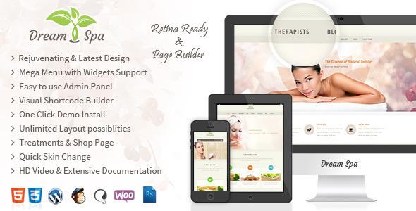 قالب وردپرس Dream Spa مختص وب سایت سالن های زیبایی