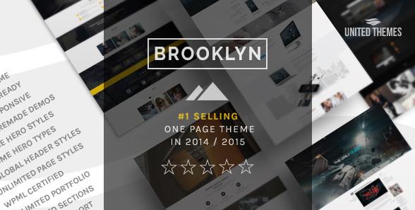 قالب وردپرس تک صفحه ای خلاقانه چند منظوره Brooklyn نسخه 2.8.6