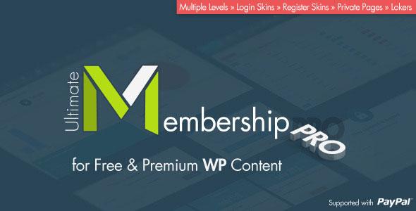 افزونه وردپرس عضویت حرفه ای Ultimate Membership Pro v1.8