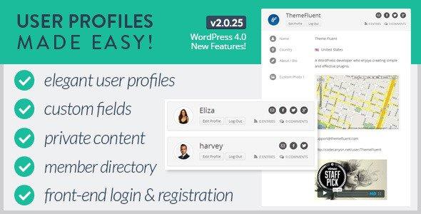 ایجاد پروفایل در وردپرس با افزونه User Profiles Made Easy