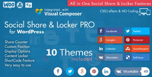 افزونه حرفه ای اشتراک گذاری وردپرس Social Share & Locker Pro