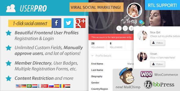 افزونه وردپرس پنل کاربری حرفه ای UserPro v2.57