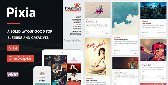 Pixia-Showcase-WordPress-Theme [OneScript.ir]