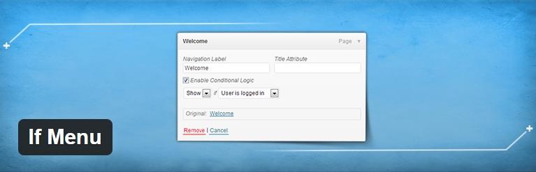 افزونه ی کاربردی If Menu - مدیریت نمایش فهرست های سایت وردپرسی برای اعضای سایت