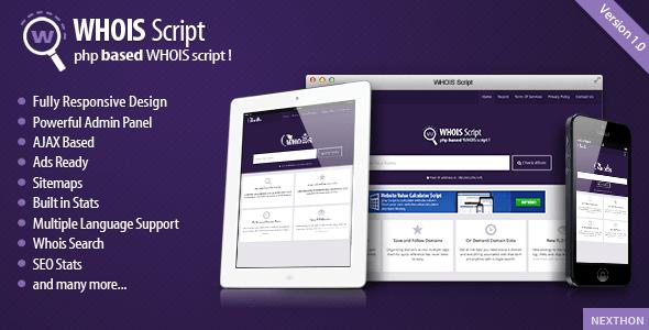 Script بایگانی - تم فارکتویژگی های اسکریپت بررسی هویز دامنه Whois Script نسخه ۱٫۵