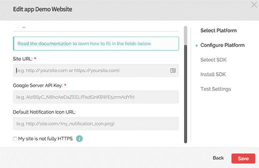 opensignal-webpush-chrome-configure