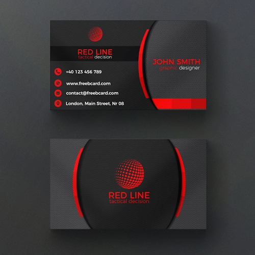 Corporate-red-black-business-card