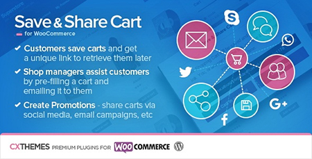 Save & Share Cart v2.13 – WordPress WooCommerce Plugin