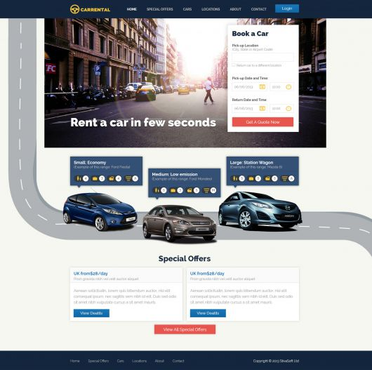 free-rent-a-car-website-template